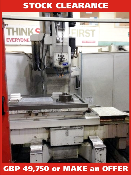 1500mm x 1000mm 6 Axis CNC Universal Miller. Heidenhain TNC 430 ...