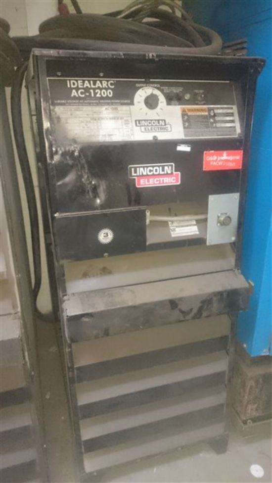 Lincoln AC 1200 amp Submerged Arc welder SAW for sale ...
