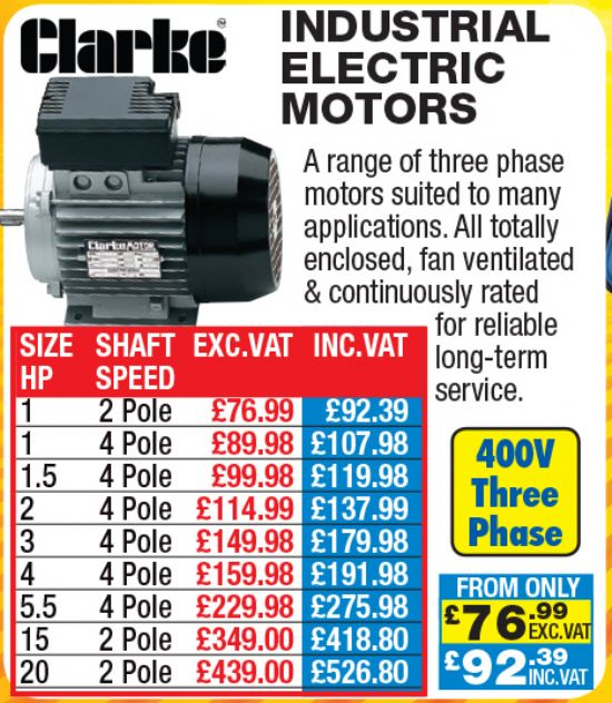 Clarke Industrial Electric Motors For Sale Machinery