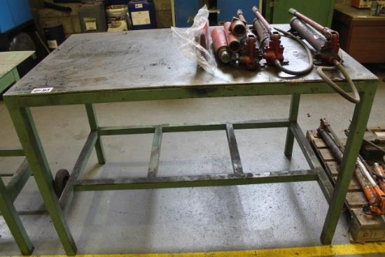 5ft METAL BENCH C/W CONTENTS TO INC. PORTA POWER PARTS for ...