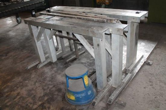 8No. METAL TRESTLES for sale : Machinery-Locator.com