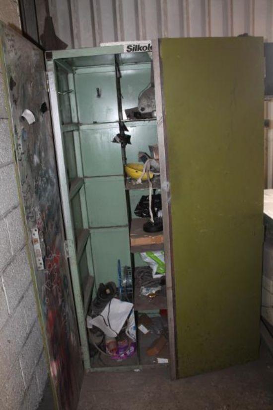 TWO DOOR METAL STORAGE CUPBOARD for sale : Machinery ...