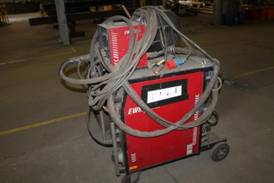 EWM PHEONIX 421 3 PHASE MIG WELDER C/W POWER FEED & LEADS ...