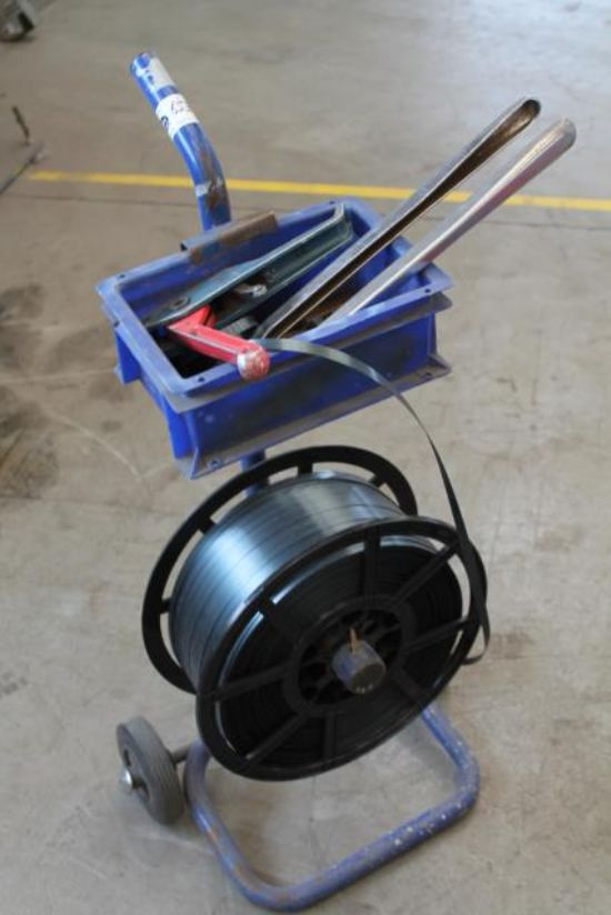 STRAPPER TROLLEY C/W STRAPPER & TOOLS (BLUE) for sale : Machinery-Locator.com