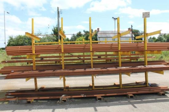 4 TIER DOUBLE SIDE METAL STORAGE RACK for sale : Machinery ...