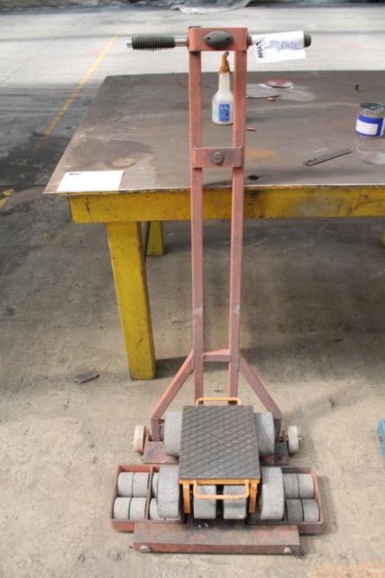 ORANGE MACHINERY MOVING TROLLEY & WHEELS for sale ...
