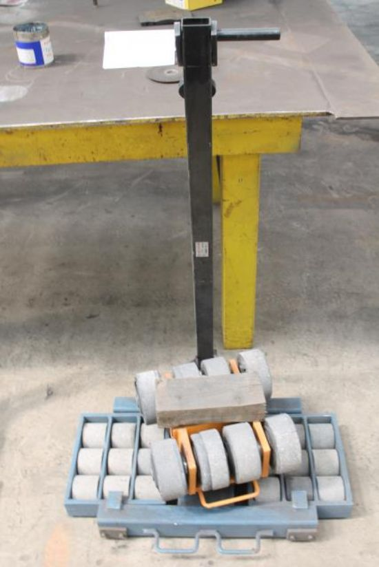 BLUE MACHINERY MOVING TROLLEY & WHEELS for sale ...