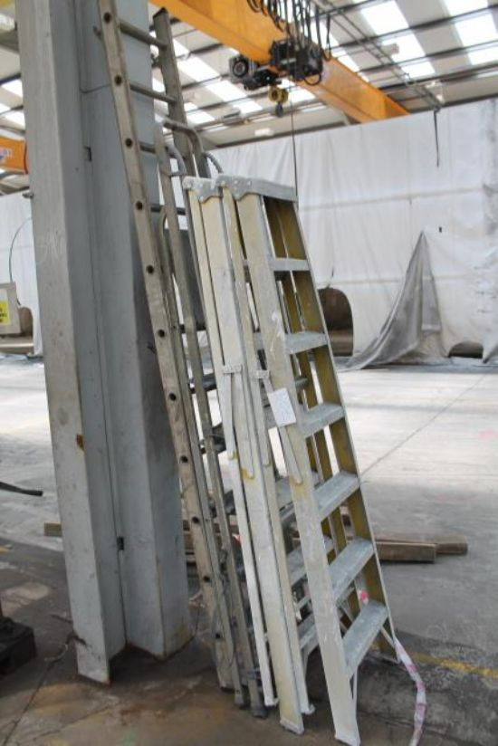 3No SETS OF STEP LADDERS & 1No SINGLE LADDER for sale ...
