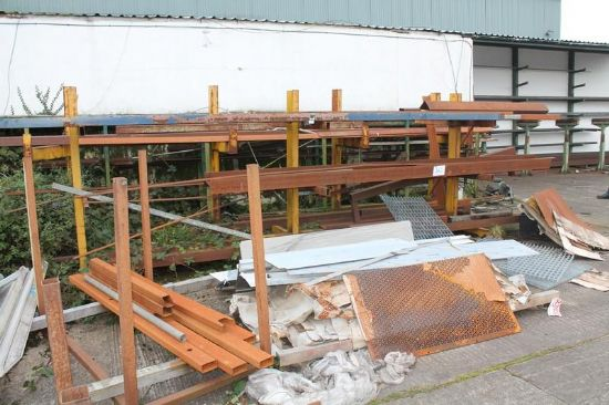 ... RACKS C/W CONTENTS & STEEL ON GROUND for sale : Machinery-Locator.com