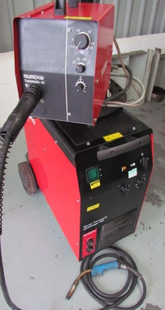 with Transmatic 400 wire feed unit . 400amp