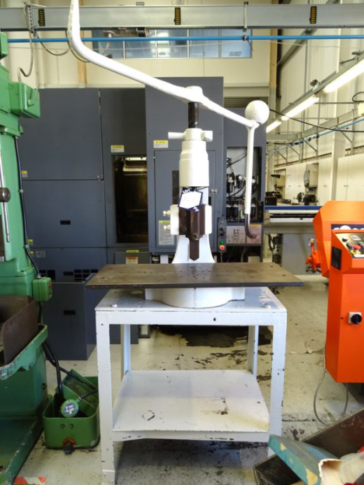 """... ' Flypress with 12"""" throat on bench for sale : Machinery-Locator.com"""