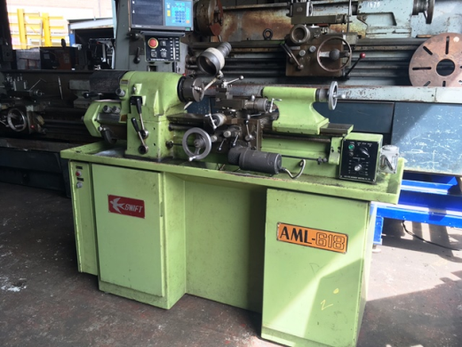 Swift AML-618 (Hardinge HLV Copy) Lathe with 2-Axis D.R.O, 