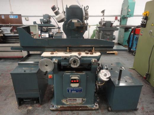 "Jones & Shipman 1400 Hydraulic Surface Grinder S/N BO92092 Magnetic Chuck 24"" x 8"" Power Rise & F"