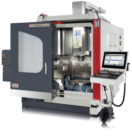 High precision, high speed, simultaneous 5 axis VMC.