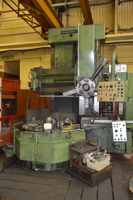 Churchill Froriep Elevating Rail Vertical Boring Machine 