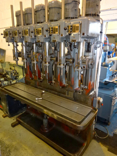 Pollard 15 LY 6 Spindle Drill, 3 Morse Taper Spindles, 2 X Power Feeds, 68