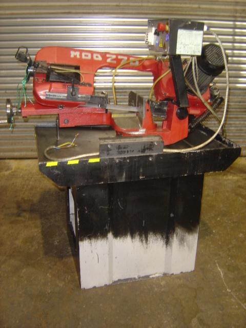 Capacity 90 degrees: 220mm dia,Speeds (2) 35/70 m/min, blade size 2450 x 27 x 0.9mm, Pedestal, coola
