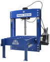 Portal Press to straighten large sheets and heavy structures