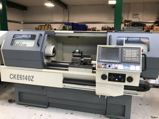 DALIAN CKE6140 CNC Lathe with Fanuc Oi-TC Control. Year 2008