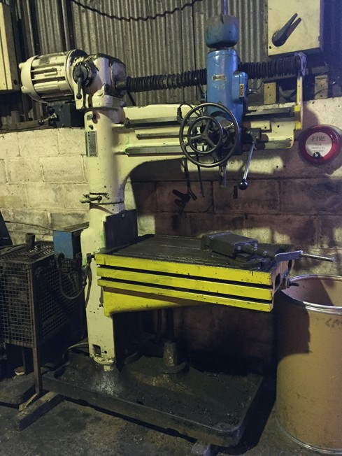 Archdale 38S sensitive Radial Arm Drill, serial number 9133, rise and fall table, speeds 64-1627, 14