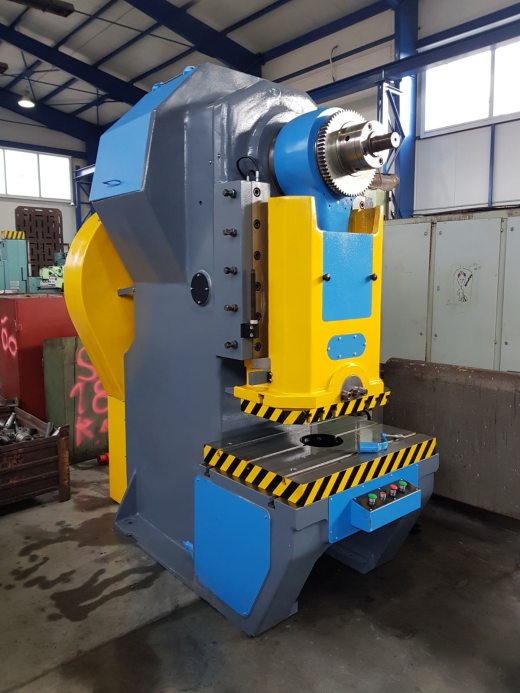Year. 1983 Capacity: 250 t Stroke: 30-140 mm Table: 1120x800 mm Motor: 20 kW Dimensions ca.: 25
