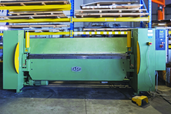 Folding material size  3 x 2,540mm,  motor power 4.5kW Year of production: 1999 Control: CNC Fas