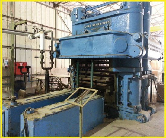 5,400-ton, steam heated plates 50in x 100in