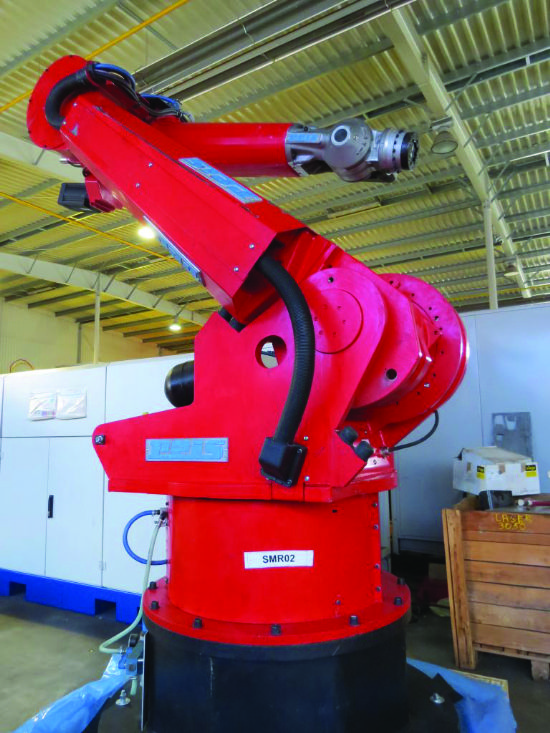 Max robot reach 3,050mm, 