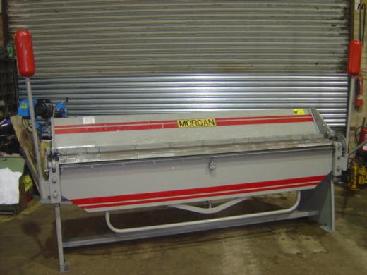 Length 2540mm, Capacity 2mm, Segmented folding beam, Counter balance weights, Backgauge