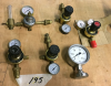 Welding Gas Accessories (5) Regulators, (1) Gauge