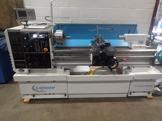 Colchester Triumph 2500VS x 1250mm Gap Bed Lathe, 2016, s/n VT2729, Metric,Right-hand apron, 7.5kw v