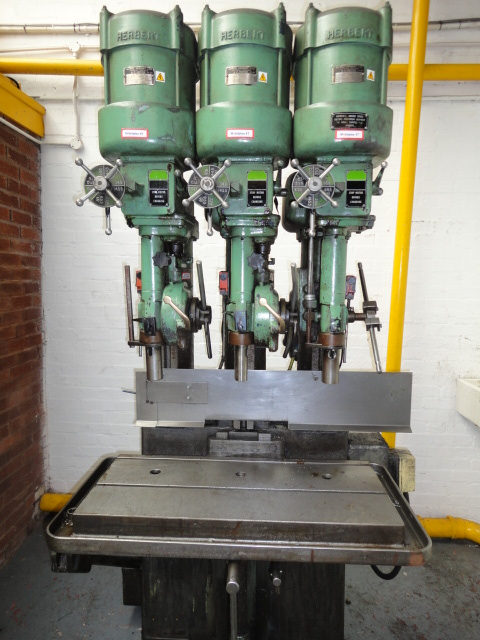 Herbert 3 Spindle In Line Drilling Machine