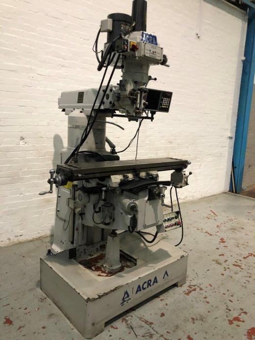 Manufacturer: ACRA Model: FVTM - 4V Location: HOSE Serial No.: 990592 Table size: 1270mm x 254mm