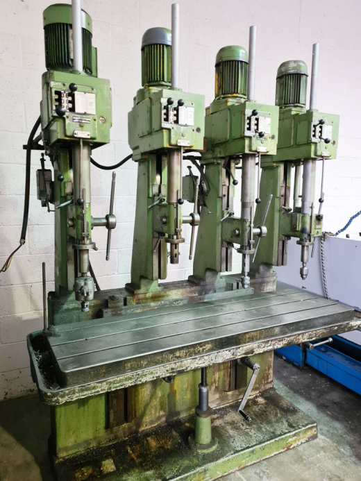 POLLARD 150A/4/6 FOUR SPINDLE IN LINE DRILL 3 MT Spindles : Rise & Fall Table 68