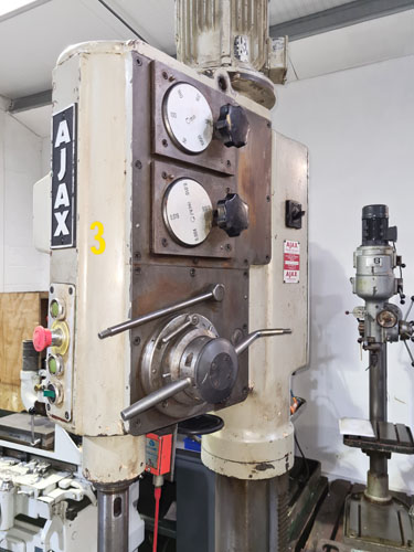 AJAX AJ40 PILLAR DRILL 4 MT Spindle : 6 Speeds 56 - 1000 rpm : Hand & Power Down Feeds : Instabrake
