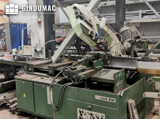 This carif 450 BA Sawing Machine was manufactured in Italy in the year 2006. This machine has a cari
