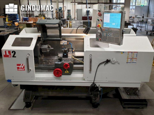 This HAAS TL-2 Lathe was manufactured in the United States in 2012. Operated through a Control unit