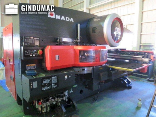 This AMADA EMK 345NT Turret Punching Machine was built in the year 2007 in Japan. It is operated thr