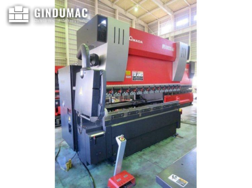 This AMADA HD 8025NT Bending Machine was made in 2011 in Japan. It is equipped with an AMADA AMNC-PC