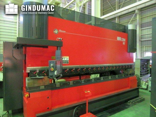 This AMADA HDS 2204NT Bending Machine was built in 2012 in Japan. It is operated through a AMADA AMN