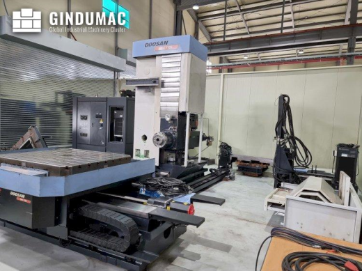 This Doosan DBC 110S boring machine was manufactured in the year 2011. It is equipped with a FANUC S