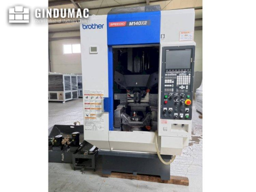 This Brother SPEEDIO M140X2 Vertical Machining Center from 2018 was manufactured in Japan. It is ope