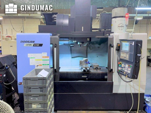 This Doosan DNM 5700 Vertical Machining Center was manufactured in South Korea in the year 2016. It