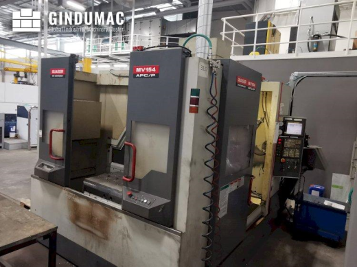 This Quaser MV154APC/P12 Vertical Machining Center from 2008 was manufactured in Taiwan. It has a re