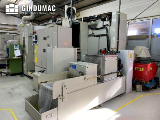This Mitsui Seiki HU50A Horizontal Machining Center was manufactured in the year 2000. It has a work