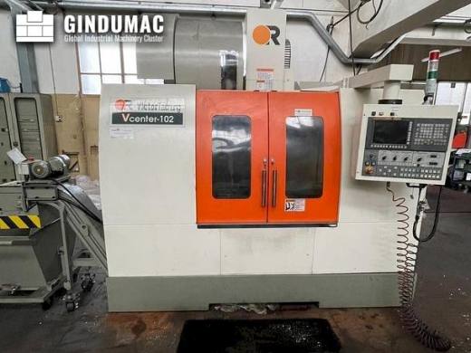 This Victor Vcenter-102 Vertical Machining Center was manufactured in 2018. It is equipped with a FA