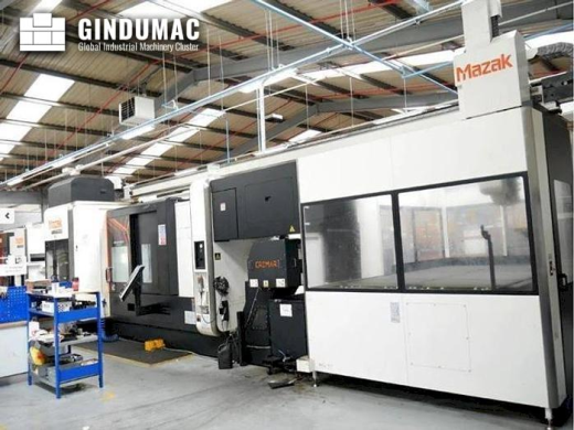 This Mazak INTEGREX i-400 ST lathe was made in 2016. It has a Smooth X control unit. This 5 axis mac