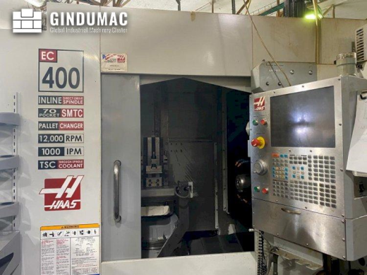 This HAAS EC-400 Horizontal Machining Center was manufactured in the year 2007 in the United States.