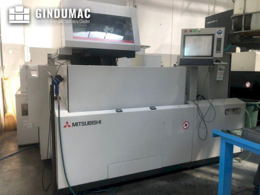 This Mitsubishi MV2400S Erosion Machine was manufactured in the year 2013. It is equipped with a con