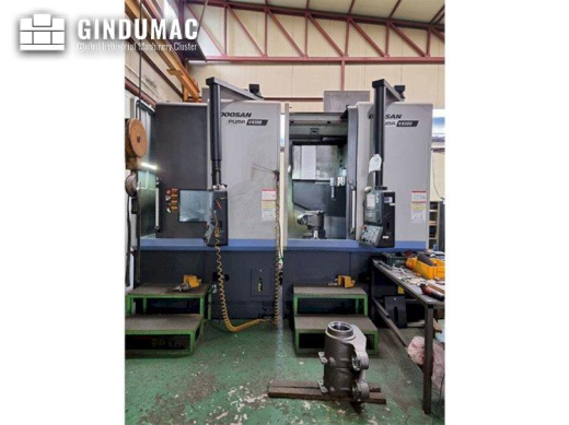 This Doosan Puma V8300 Lathe was built the year 2019. It is equipped with a Fanuc i Series control u